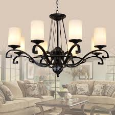Country Style Chandelier Wrought Iron 8 Light Country Style Chandeliers With 0 39w