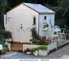 pretty shed pretty garden shed stock photo 80427127 shutterstock