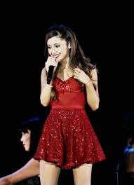 Dress Bralette Christmas Ariana Grande Bustier Skater Skirt