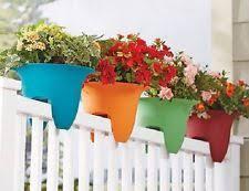 unbranded plastic flower u0026 plant railing planters boxes ebay