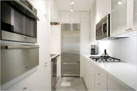 beauteous futuristic parallel modular kitchen with white color
