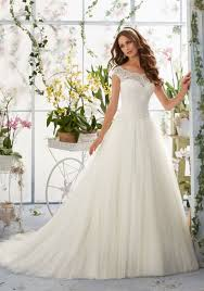 wedding dress overlay embroidered lace overlays the bateau bodice on soft net morilee