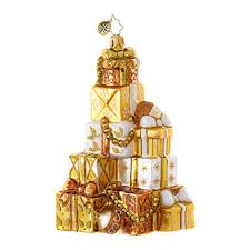 christopher radko ornaments radko packages gifts golden gift