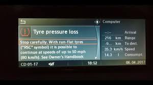 bmw 3 series tyre pressure bmw tyre pressure alert