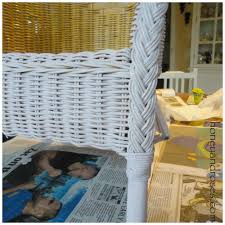 Can Wicker Furniture Be Outside How To Paint A Wicker Chair With Chalk Paint Honey U0026 Roses