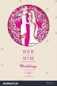 Indian Wedding Card Templates Indian Wedding Invitation Card Templates Paper Stock Vector