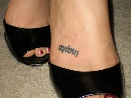 25 impressive one word tattoos ankle