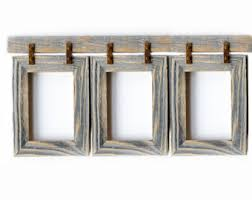 rustic picture frame etsy