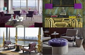 indulge yourself with purple decor at a manhattan penthouse