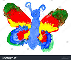 big butterfly colourful wings drawing by stock illustration