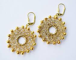 Knitted Chandelier Earrings Pattern Knitted Jewelry Etsy