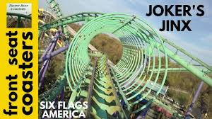 Six Flags America Map by Joker U0027s Jinx Pivothead Pov Six Flags America 2016 Roller Coaster