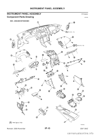 nissan 350z drawing nissan 350z 2007 z33 instrument panel workshop manual