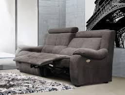 canapé relax electrique 3 places canape 3 places 2 relax electrique ref 18344 meubles