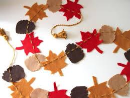 fall garland get crafty make a felt garland for fall hgtv