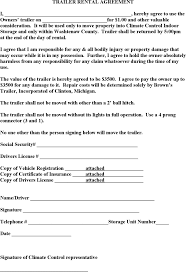 download trailer rental agreement template for free tidyform