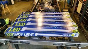 4 Foot Fluorescent Shop Light Fixture by Led Light Design Cheap Shop Led Lights For Garage Lighting