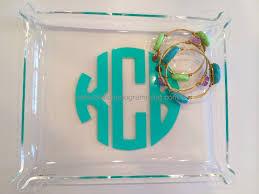monogrammed trays monogrammed acrylic jewelry tray