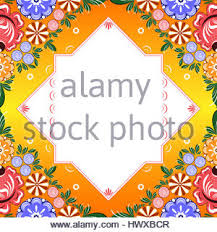 floral pattern ornament russian folk style hohloma stock vector