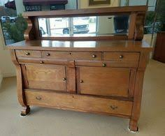 antique oak sideboard buffet with mirror looks just like the
