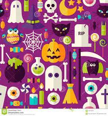 halloween background templates free flat purple halloween trick or treat objects seamless pattern