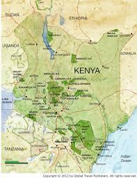 Kenya Map Africa by Kenya Best African Safari Tours