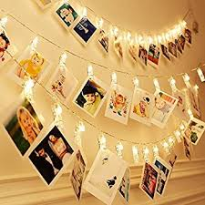 amazon com dokro string lights with photo clips fairy lights for