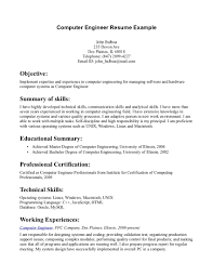 Best Resumes For Engineers by Computer Engineering Resume Berathen Com