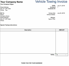 free tow service invoice template excel pdf word doc