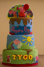 Two Sided Peppa Pig & Paw Patrol Cake CakeCentral