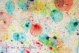 summer camp bubble art design dazzle