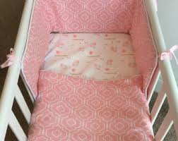 Swinging Crib Bedding Coral Crib Bedding Set Yellow Mint Gold Baby Nursery