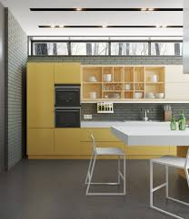 Yellow Kitchen Cabinet by Kitchen Yellow Cabinet Also Dining Set With Transparent Chairs