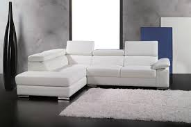 canapés de qualité canapé d angle en cuir italien 5 places helios blanc mobilier privé
