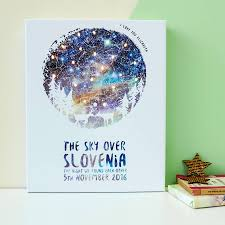 Map Of The Stars Personalised Light Up Map Of The Stars By Bookishly