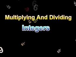 integers rules for multiplying and dividing youtube