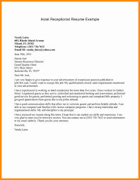 covering letter receptionist 28 images sle receptionist cover