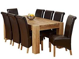 Solid Oak Dining Table Set 1home Solid Oak Dining Table Set With Chunky Legs Room