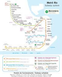 Map Of Rio De Janeiro Rio De Janeiro Metro Map Subway U2022 Mapsof Net
