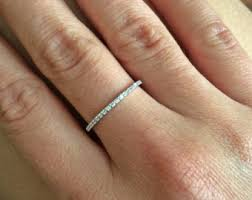 thin wedding bands thin diamond band etsy