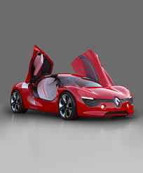 butterfly doors renault dezir electric two seater coupé concept car 2010 with