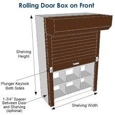 Roll Door Cabinet Locking Metal Shelving Doors Storage Shelf Roll Up Secure