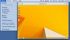 how to use parallels desktop snapshots
