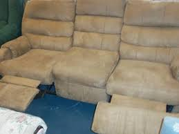 Used Reclining Sofa Reclining Sofa Beige Microfiber The Jackpot New Used