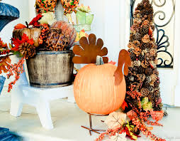 outdoor thanksgiving halloween yard decorations outdoor sparkling pumpkin porch light