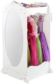 Amazon Com Guidecraft Dress Up Center With Mirror White Armoire