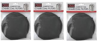 amazon com oggi replacement charcoal filters for compost pails