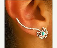 ear wrap silver ear cuff ear climber climber earrings ear wrap
