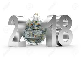 new year dollar bill silver 2018 new year with glass christmas of dollar