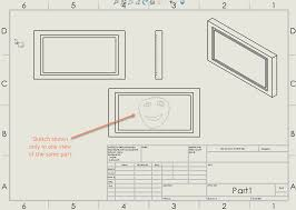 photo sketch show solidworks sketch in a specific drawing view
